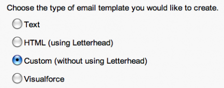 Select a Custom Salesforce Email Template